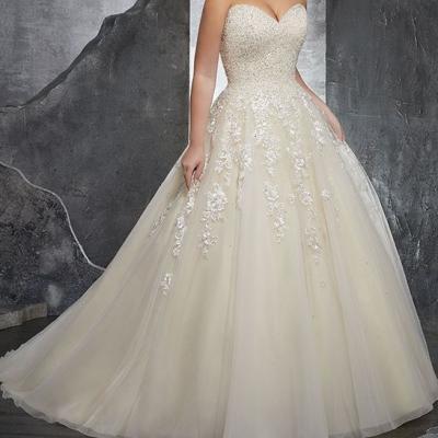 robe de mariée bustier coeur blanche