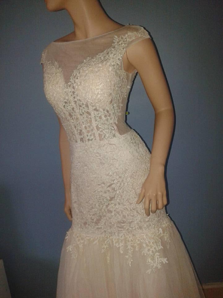robe de soirée sirène champagne