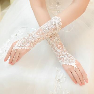 Gant de mariée dentelle