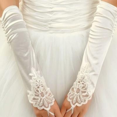 gant mariée blanc