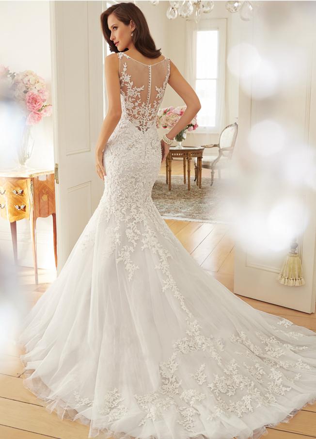 2015 fashion vintage lace mermaid wedding dress train vestidos sexy plus size wedding gown bridal dress 1