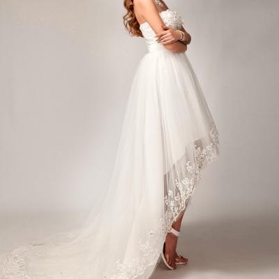 Robe de mariée bustier courte