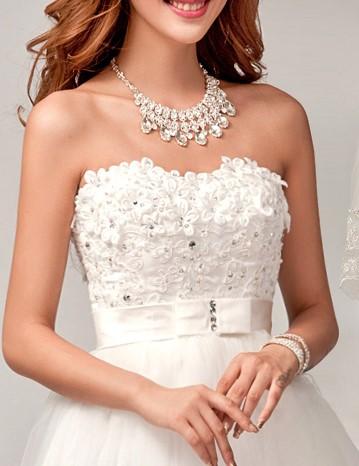 2015 la mode romantique sexy robes de mariee fleur elegant robes femmes plus size robe de