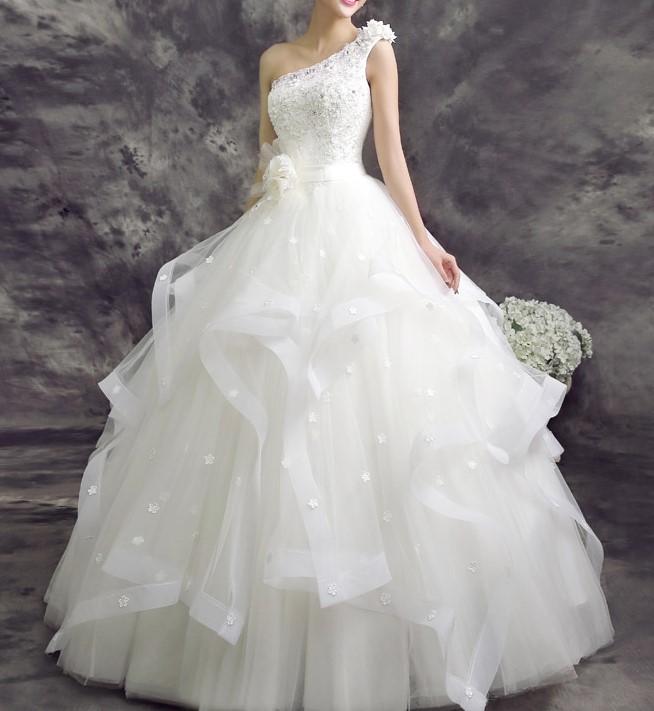 2015 mode romantique sexy vintage ceinture une epaule robe de mariee robes noivas plus nuptiale de