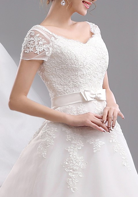 2015 new arrival free shipping long tail lace wedding dress sleeve vestidos sexy plus size vintage 2