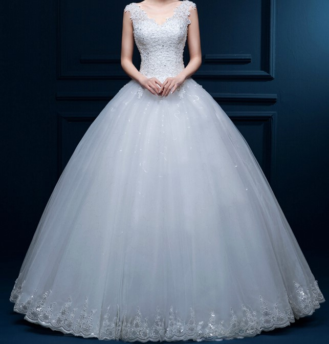 2015 new shoulder off white with red lace wedding dress long train sexy plus size diamond 1
