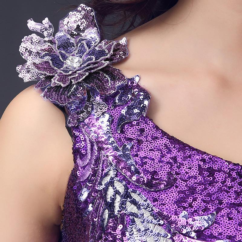 2015 nouvelle dentelle paillettes violet sir egrave