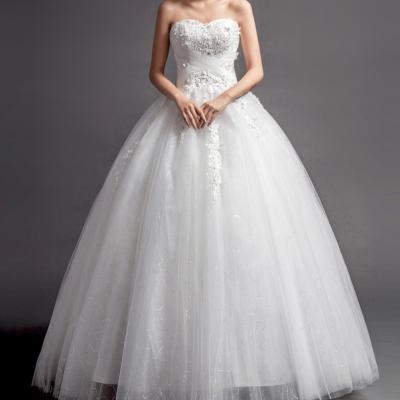 Robe de mariée bustier col amoureux