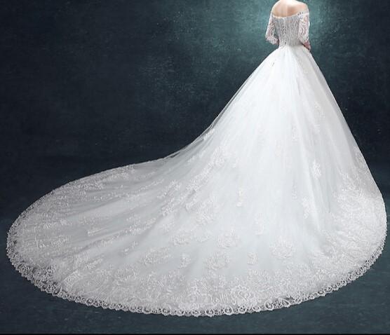 2016 camouflage a manches robes de bal de mariage long train vintage bandage plus la taille
