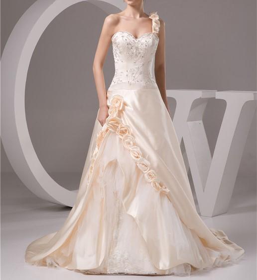 2016 champagne de luxe robe de noiva robe de mariage robe de mariee une ligne broderie jpg 640x640