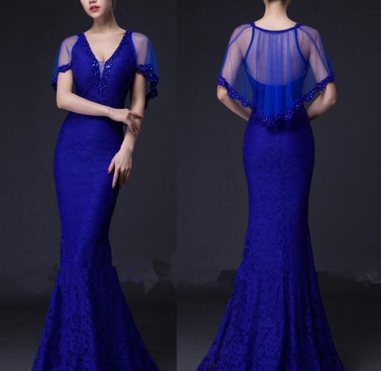2016 livraison gratuite dentelle col v parti robes longues robes de soir eacute 3