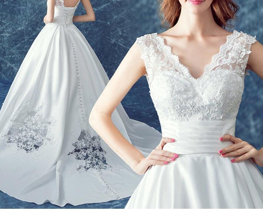 2016 mat satin plus la taille robe de mari eacute 1
