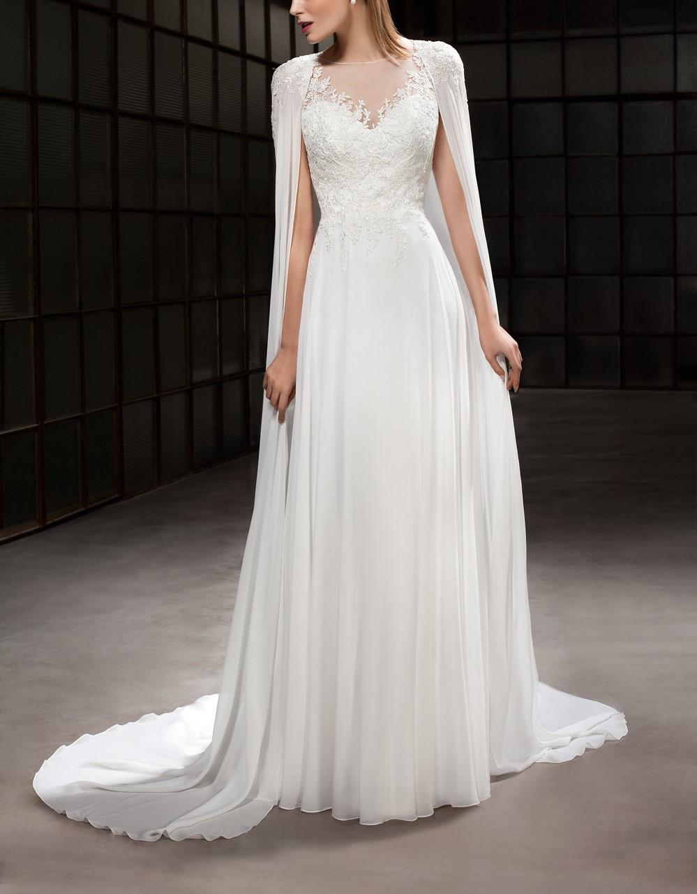 robe de mari e t avec cape amovible blanche. Black Bedroom Furniture Sets. Home Design Ideas