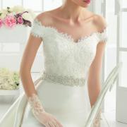 robe de mariée avec haut en dentelle