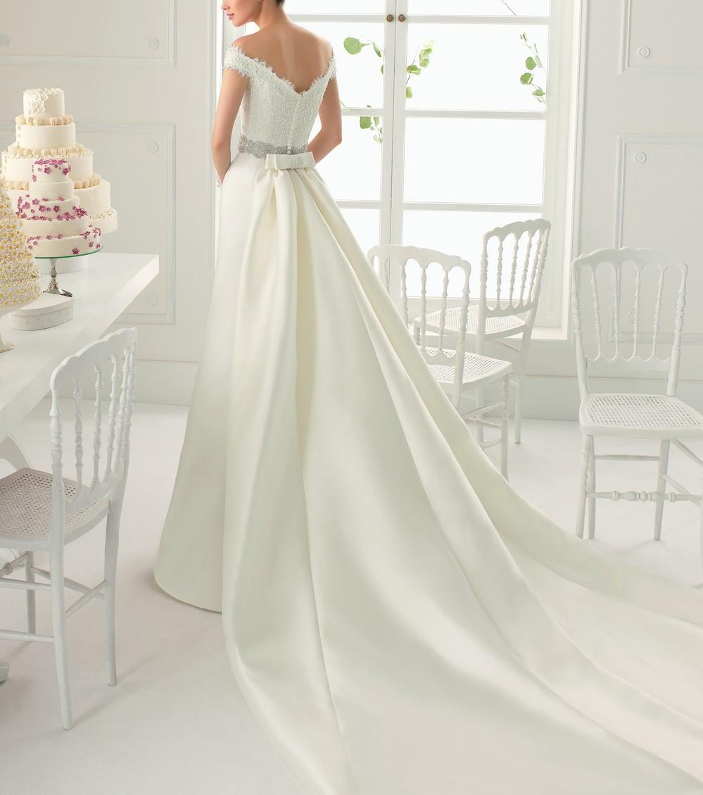Robe de mariée sirène avec traîne