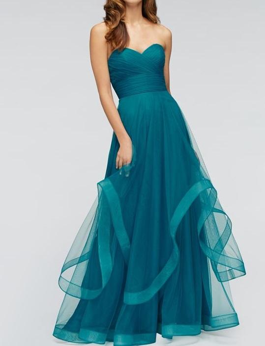 robe de demoiselle organza vert