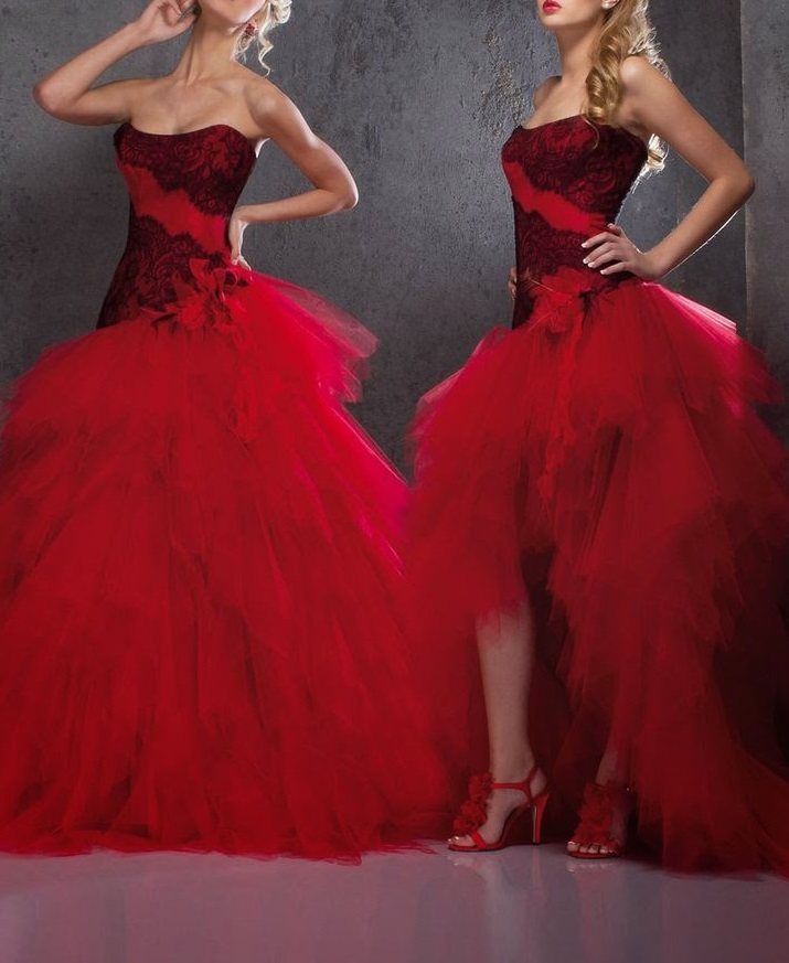 robe rouge modulable pour mariage
