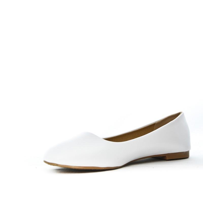 Ballerine blanche en simili cuir 1