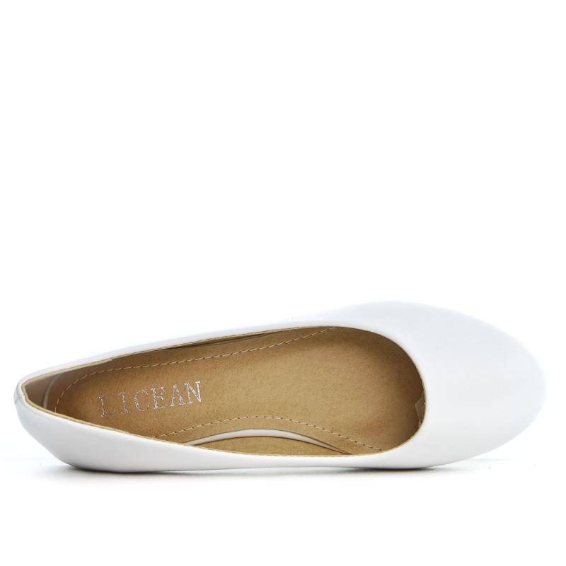 Ballerine blanche en simili cuir 2