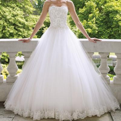 Robe de mariée bustier romantique