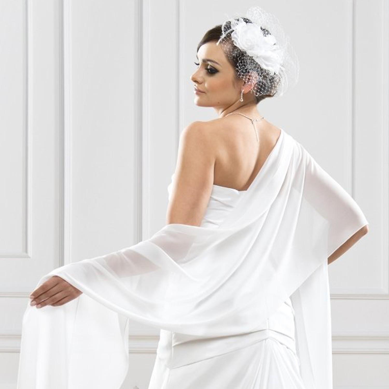 Chale mariee blanc aurelia