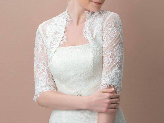 Custom made blanc dentelle appliques de mariage veste moitie manches de mariee foulards wrap pour la jpg 640x640