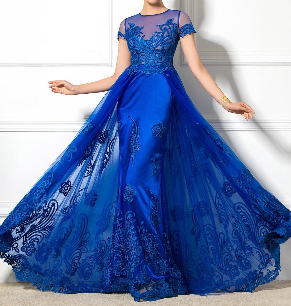 Dressv 2016 jewel cou a manches courtes a ligne robe de soiree appliques longue elegante sexy