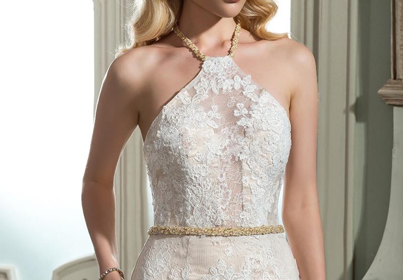 Dressv ivoire halter neck lace robe de mari eacute 1