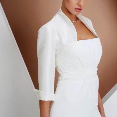 boléro satin pour robe de mariée