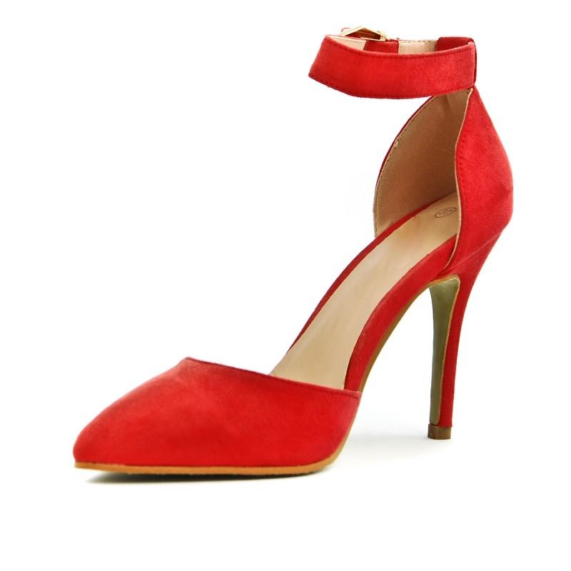 Escarpin rouge a bride