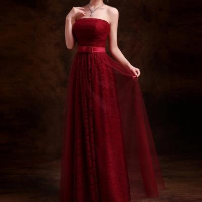 Robe de soirée bustier rouge