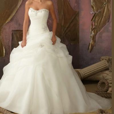 robe mariée princesse perles
