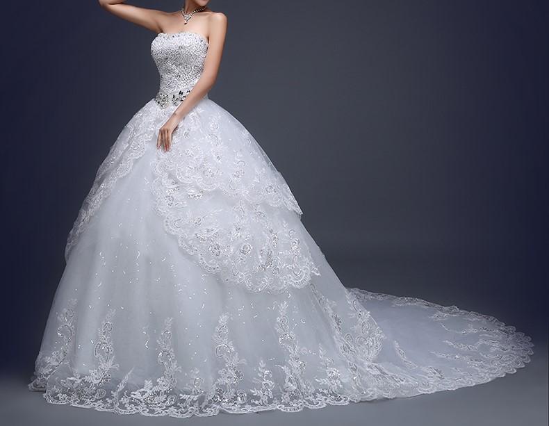 Robe de mariee blanche avec bustier