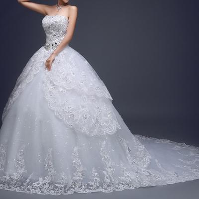 Robe de mariée royale avec traîne
