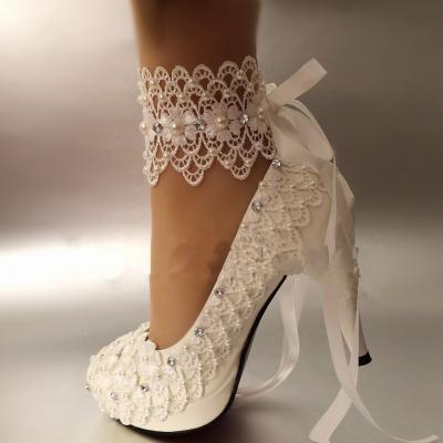Chaussure de mariée brodée