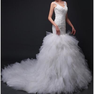 Robe de mariée sirène Tullle