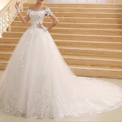 Robe de mariée  A-line avec traine