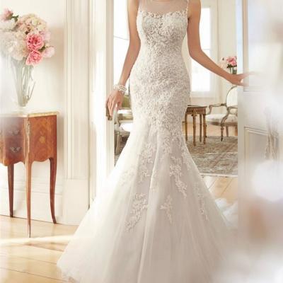 Robe de mariée dentelle coupe sirène
