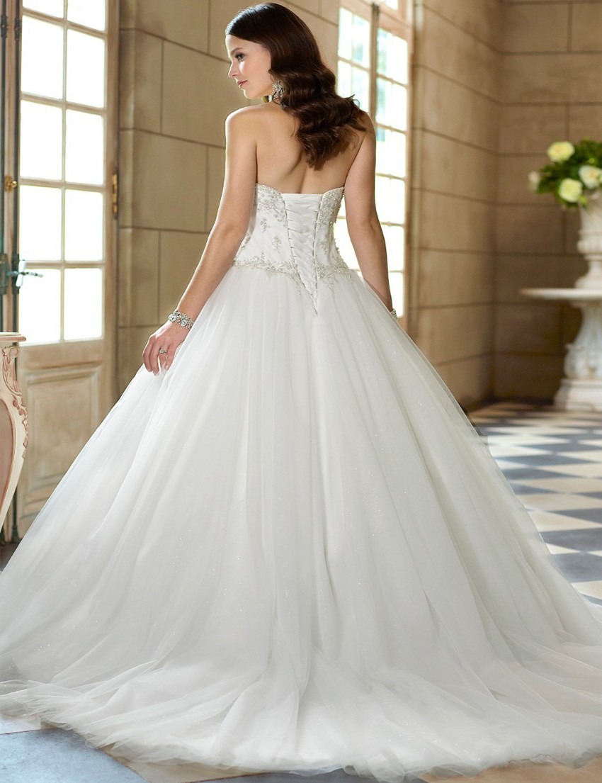 robe de mariée tissu tulle paillettes
