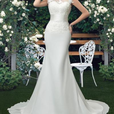 Robe de mariée coupe sirène Fleurie