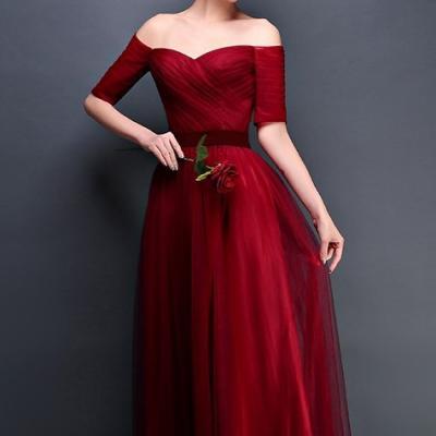 Robe de gala rouge bordeaux