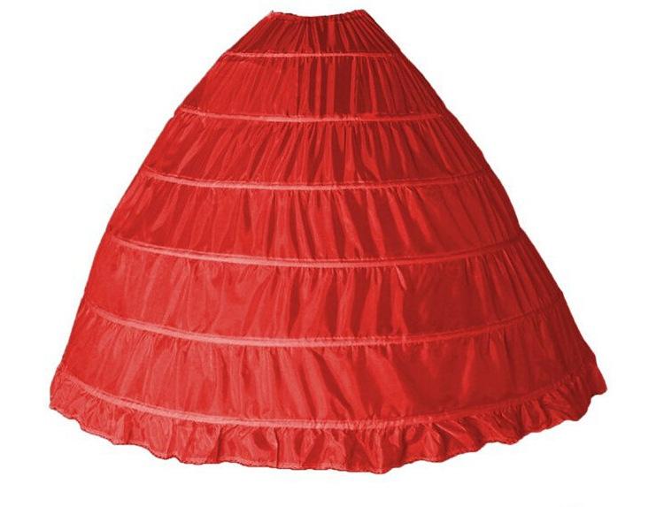 jupon rouge pour robe de mariée