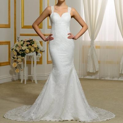 Robe de mariée sirène dos nu perlée