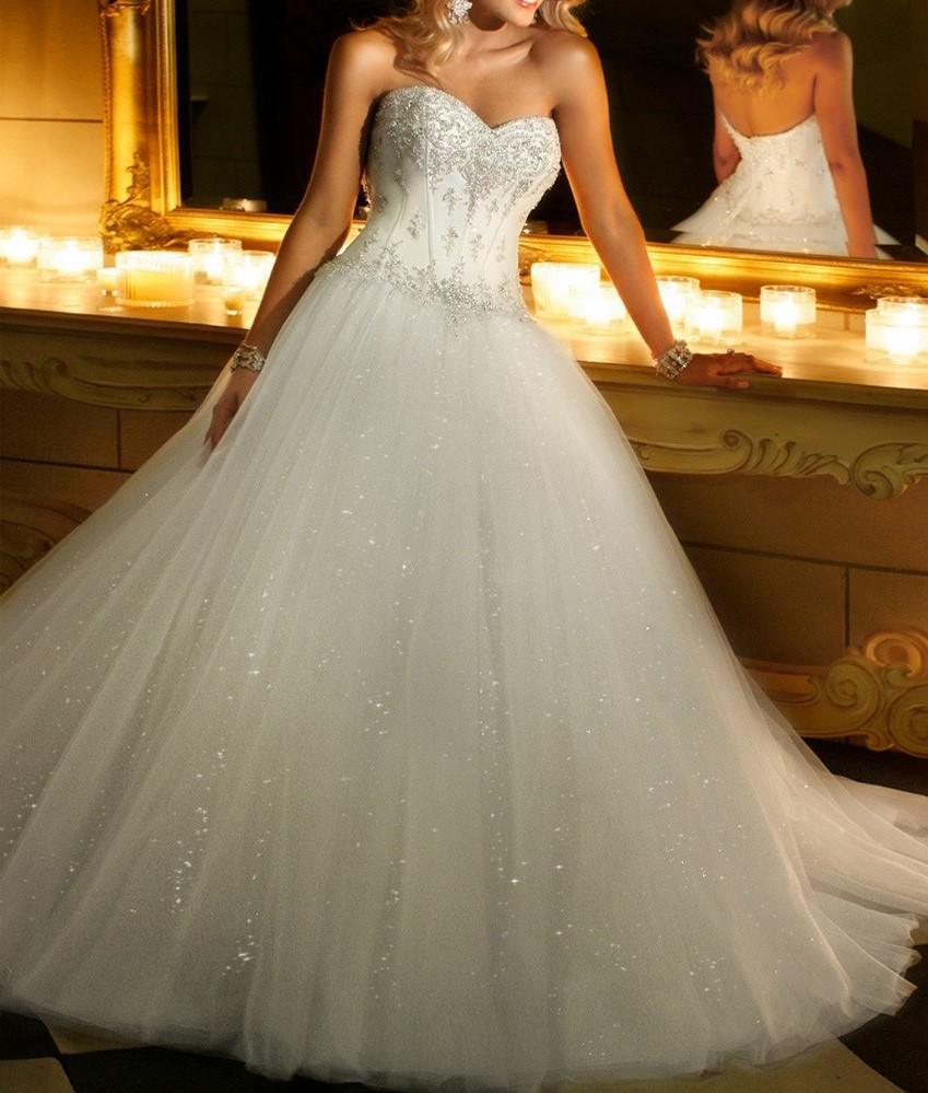 robe de mariée en tulle paillettes