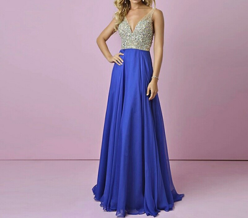 Robe de demoiselle d'honneur bleu royal