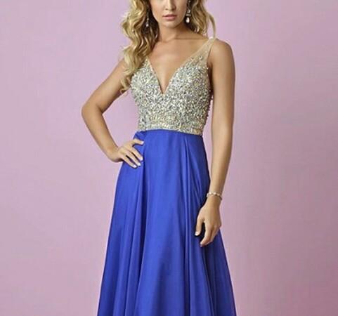 robe du soir bleu roi