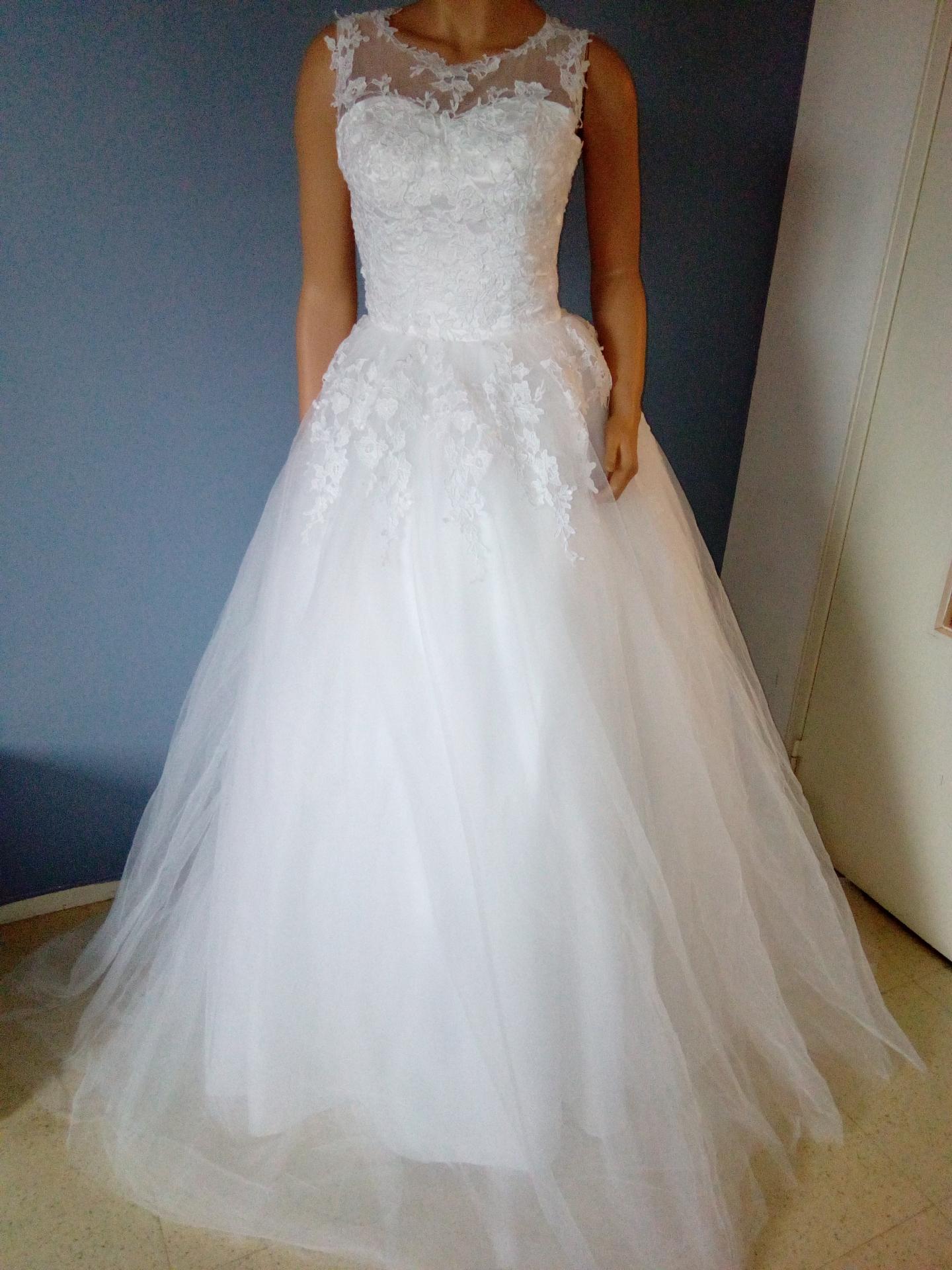 Robe de mariée illusion