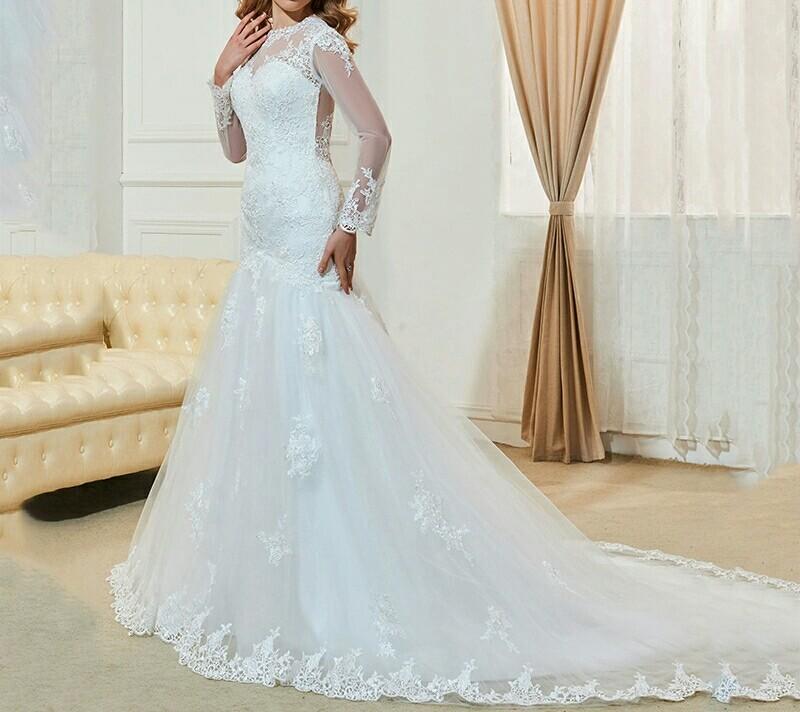 robe de mariée coupe sirène blanche