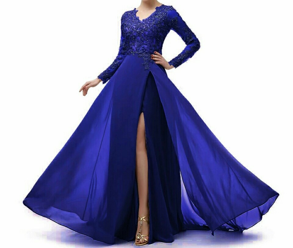 robe mère de la mariée bleu roi