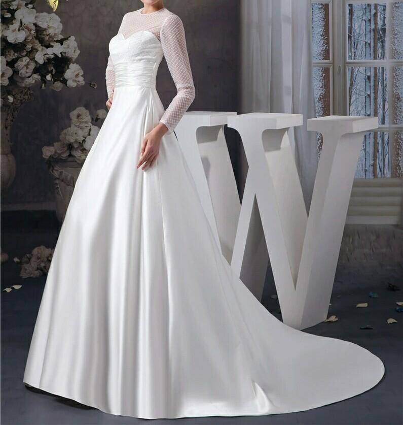 Robe mariage tissu satin blanc